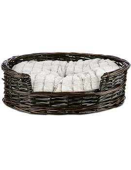 "Harmony Wicker Cat Bed With Faux Fur Insert, 20.5"" L X 19"" W Harmony Wicker Cat Bed With Faux Fur Insert, 20.5"" L X 19"" W by Harmony"