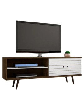 Carson Carrington Sortland Wooden Modern Tv Stand   Rustic Brown And White by Carson Carrington