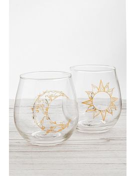 Set Of 2 Celestial Sun And Moon Glasses by Urban Outfitters