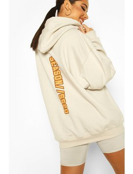 Extreme Oversize Slogan Graphic Hoody by Boohoo