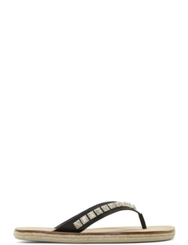 Black Pyraclos Flip Flops by Christian Louboutin