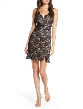 Glitter Lace Sleeveless Cocktail Dress by Morgan & Co.