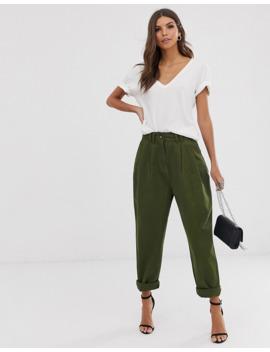 Широкие брюки со складками Asos Design by Asos Design