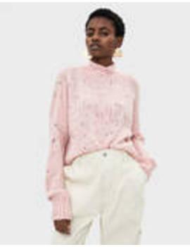 Трикотажен пуловер меланж by Bershka