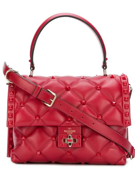 Valentino Garavani Candystud Tote In Red by Valentino
