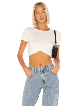 Camille Twist Front Top In Ivory by Superdown