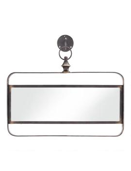 Horizontal Black Metal Mirror With Hook by World Market