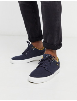 Jack & Jones Canvas Sneaker In Navy by Jack & Jones