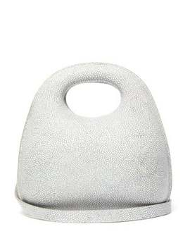 Egg Stingray Effect Leather Bag by Lemaire