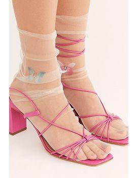 Diamond Butterfly Tulle Socks by High Heel Jungle