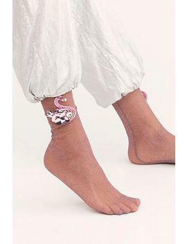 Swan Song Sheer Slouch Socks by High Heel Jungle