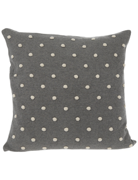 Gray Knit Pillow Cover With White Dots by Hobby Lobby