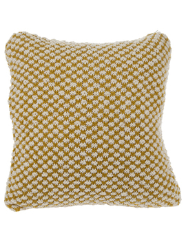Mustard Plush Knit Pillow Cover by Hobby Lobby