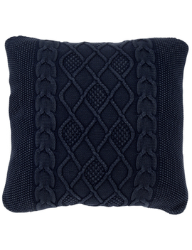Navy Trellis Knit Pillow Cover by Hobby Lobby