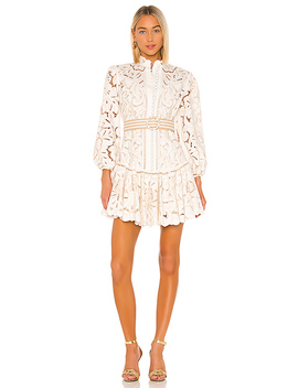 Edie Embroidery Short Dress In Ivory by Zimmermann