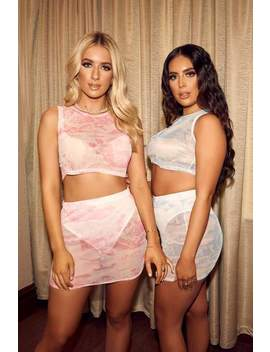 Baby Pink Mesh Sleeveless Crop Top by I Saw It First