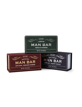 Man Bar Soap Set Of 3 by Uncommon Goods