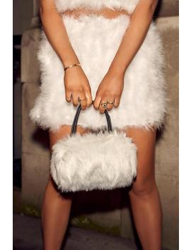 White Faux Fur Handbag by I Saw It First