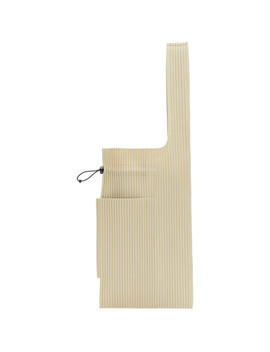 Beige Large Pleats Easy Tote by Homme PlissÉ Issey Miyake