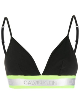 Logo Lined Triangle Bra by Calvin Klein Underwear