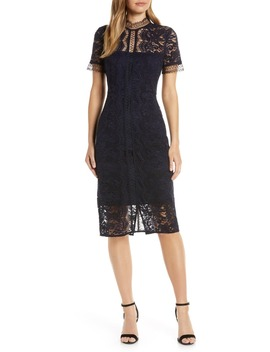 Sleeveless Lace Sheath Dress by Eliza J