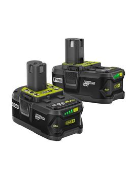 18 Volt One+ Lithium Ion Battery Pack 4.0 Ah (2 Pack) by Ryobi