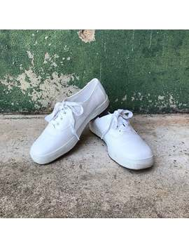 Vintage White Leather Sneakers | Us Women's Size 5.5 6 by Etsy