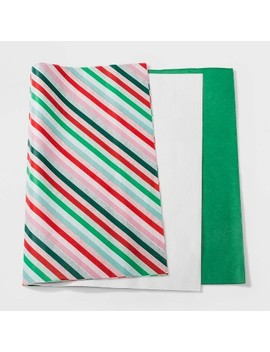 30ct Juve Christmas Tissue Green White And Striped   Wondershop™ by Wondershop