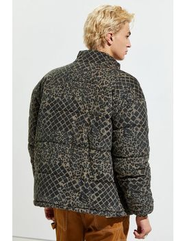 Uo Patterned Corduroy Puffer Jacket by Urban Outfitters