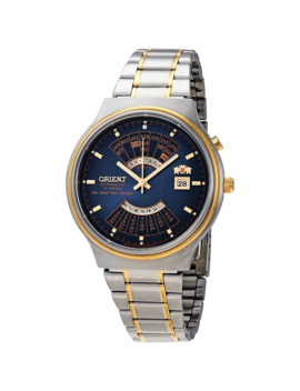 Perpetual Calendar World Time Automatic Blue Dial Men's Watch by Orient