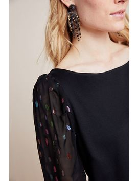Mica Clip Dot Shimmer Top by Eva Franco