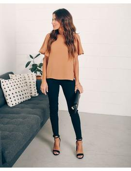 Joy To The World Puff Sleeve Blouse by Vici