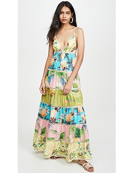 Colorful Birds Maxi Dress by Farm Rio