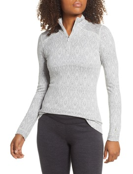 Merino 250 Patterned Base Layer Quarter Zip Top by Smartwool