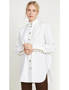 Puzzo V Paneled Neck Shirt by Ellery