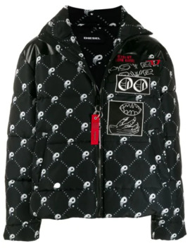 W Piatig Peace Puffer Jacket by Diesel