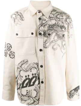 Long Sleeve Monster Print Shirt Jacket by Diesel