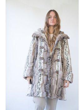 Vintage Faux Fur Hooded Parka Coat   Brown by Garmentory