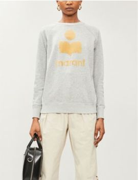 Milly Logo Appliqué Cotton Blend Jersey Jumper by Isabel Marant Etoile