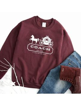 Disney Cinderella Sweatshirt, Disney Coach Gift, Coach Disney, Cinderella Sweater, Bridesmaid Gift, Princess Sweatshirt, Cinderella, Coach by Etsy