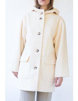 Vintage Hooded Coat   Cream by Garmentory