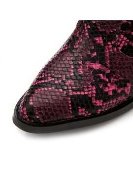 Marian Pink Snake Print by Moda In Pelle