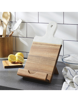 Better Homes & Gardens Acacia Wood And Marble Cookbook/Tablet Holder by Better Homes & Gardens