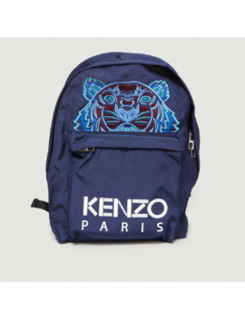 Navy Blue Polyester And Nylon Tiger Backpack Navy Blue Polyester And Nylon Tiger Backpack by Kenzo