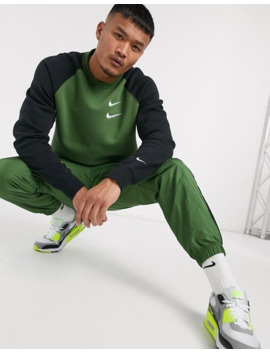 Nike Swoosh Crew Neck Sweat In Khaki by Nike