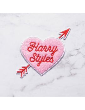 Harry Styles Heart Embroidered Chenille Iron On Patch by Etsy