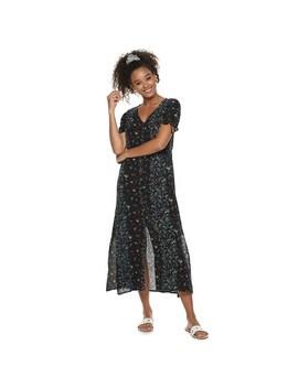 Juniors' Mudd® Button Front Slip Dress by Juniors' Mudd