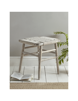 Woven Rope Low Stool by Cox & Cox