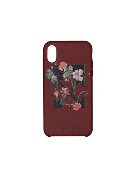 Off White Flowers I Phone X Case Bordeaux/Black by Stock X
