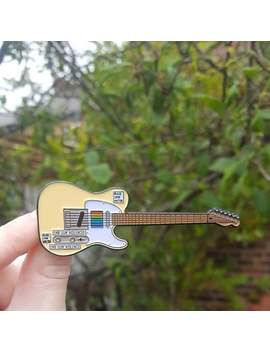 "Harry Styles' ""Fender Telecaster"" Guitar Pin *After Christmas Pre Order*. by Etsy"